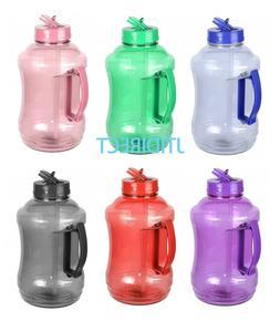 1/2 Gallon BPA Free Water Bottle Drinking Canteen Jug Contai