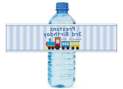 100 Choo Choo Train Theme Water Bottle Labels Easy to use, a