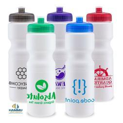 100 Custom USA Made BPA Free 28 oz Sports Water Bottle Print