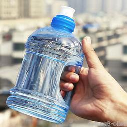1000ML Large Sport Gym Training Drink Water Bottle Cap Kettl