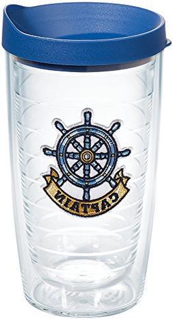 Tervis 1167537 Captain Wheel Tumbler with Emblem and Blue Li