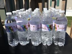 12 Birthday Party Water Bottle Stickers. Any Character of