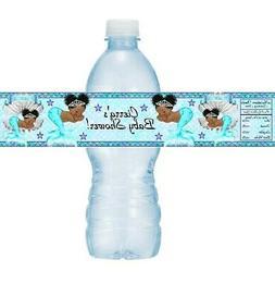 12 Ethnic Mermaid Princess Baby Shower Water Bottle Labels S