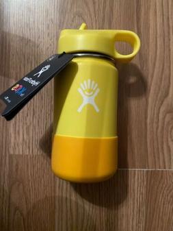 Hydro Flask 12 oz Kids Water Bottle Lemon New