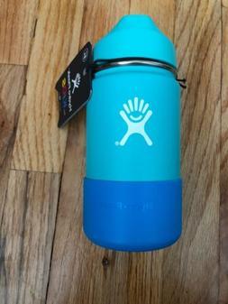 Hydro Flask 12 oz Kids Water Bottle Mint Wide Mouth Straw St