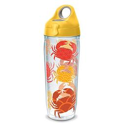 Tervis 1230829 Crab Tumbler with Wrap and Yellow Lid 24oz Wa