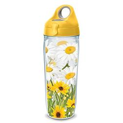 Tervis 1231168 White Daisies Wrap Water Bottle with Yellow W