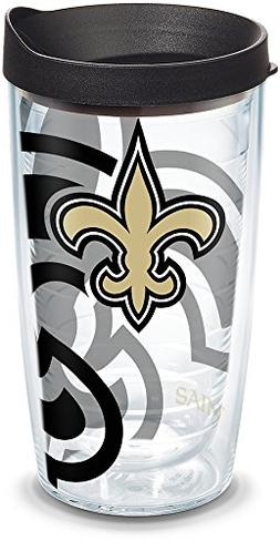 Tervis 1292140 NFL New Orleans Saints Tumbler with Lid, 16 o