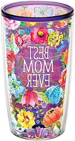 Tervis 1292584 Best Mom Ever Floral Insulated Tumbler with W