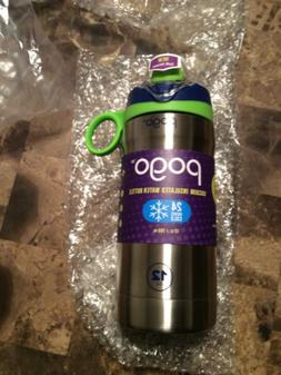 Pogo 12oz Stainless Steel Kids Water Bottle