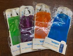 Vapur 16-oz Foldable Plastic Water Bottle  Hook Portable Lot