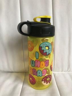 Cool Gear 16 oz Water Bottle Kids Yellow Bottle I Donut Care