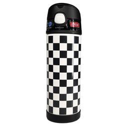 Thermos 16oz FUNtainer Water Bottle - Black&White Checks