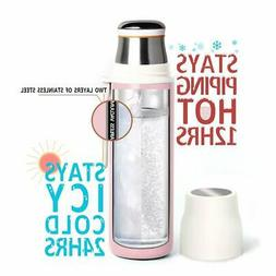 16oz Stainless Steel Water Bottle Cup Vacuum Insulated Leak