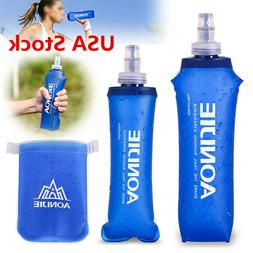 170-500ml Foldable Soft Flask TPU Squeeze Running Water Bott