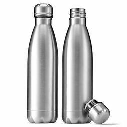 FINEDINE Stainless Steel Water Bottle - Set of 2  Double-Wal