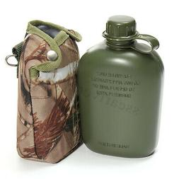 1L Army Military Canteen Cycling Water Bottle Outdoor Campin