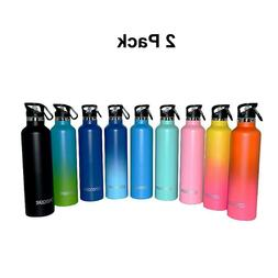 2 Pack 25 oz Stainless Steel Vaccum Insulated Water Bottle 3
