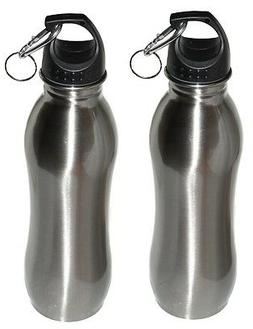 2 Pack - 25 oz - Wide Mouth - Stainless Steel Sports Water B