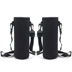 Kvvdi 2 Pack 32oz Neoprene Glass Water Bottle Sleeve Carrier