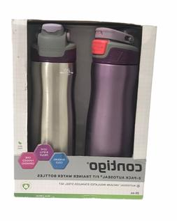 2-PACK Contigo Autoseal Fit Trainer Water Bottle, Stainless