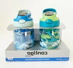 2-Pack Contigo Kids Water Bottle 14oz Spill-Proof Easy-Clean