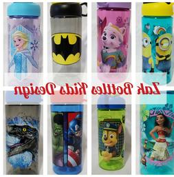 2-Pack Zak Designs Water Bottles Kids Disney Marvel DC Carto