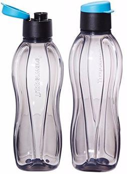 Lot-of-2-Tupperware-Black-Flip-Top-Water-Bottle-750-ml-Eco-A