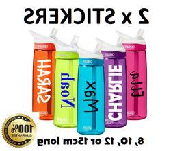 2 x Water Bottle NAME LABELS Personalised STICKERS School Lu