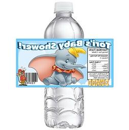 20 blue DUMBO PERSONALIZED BABY SHOWER PARTY FAVORS WATER BO