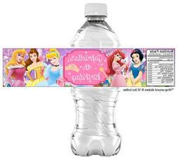20 Disney Princess Water Bottle Sticker Labels, PARTY FAVORS
