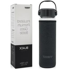 Firost 20 oz Premium Insulated Glass Water Bottle - Wide Mou