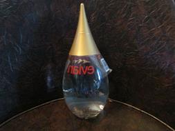 2001 EVIAN Limited Edition TEARDROP Glass Water Bottle. Unop
