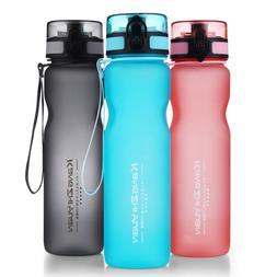 2018 Sports Water Bottle Portable BPA-Free Tritan Drinking B