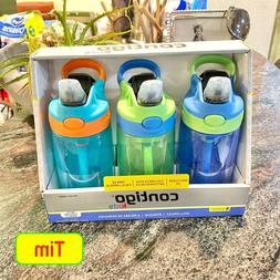 2020 NEW Contigo Kids Autospout Flip Water Bottle w/ Straw 1