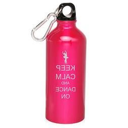 20oz Aluminum Sports Water Bottle Canteen Clip Keep Calm and