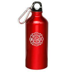 20oz aluminum sports water bottle canteen firefighter