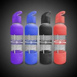 New Wave Enviro 20oz Reusable Glass Drinking Water Bottle w