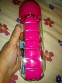 20oz Water Bottle w/ Pill Organizer