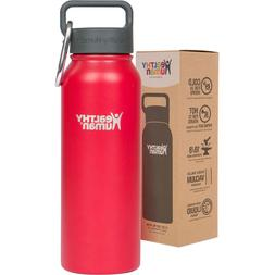 Healthy Human 21 oz Red Hot Insulated Stainless Steel Water