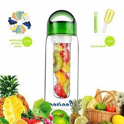 23 OZ Sporty Tritan Fruit Infuser Water Bottle for Sports Sc