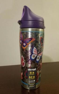 Tervis 24 oz. Butterfly motif Stainless Steel Water Bottle O