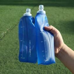 US 250/500ml Bottle Foldable Soft TPU Flask Outdoor Running