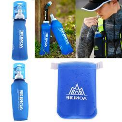 250ml-500ml Foldable Soft Flask TPU Squeeze Running Water Bo