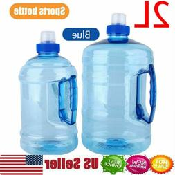 2L Big BPA Free Drink Water Bottle Cap Kettle Sports Gym Tra