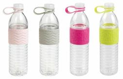 3 Pack Copco Hydra Water Bottle Non Slip Sleeve BPA Free Pla
