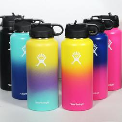32/40oz Flask Vacuum Wide Mouth Insulated Water Bottles With