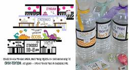 32 WATER BOTTLE LABELS Wrapper Birthday Party Sticker Decora