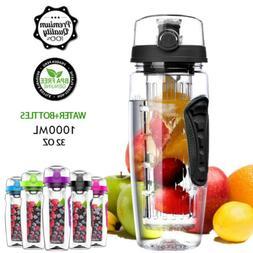 32oz Fruit Infuser Water Bottle Bottom Loading Infusing Heal