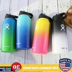 32oz Gradient Color Hydro Flask Stainless Steel Water Bottle